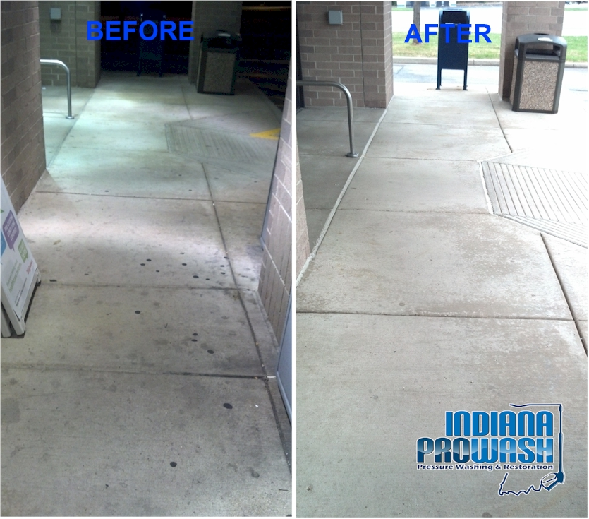 walgreens entry concrete before and after